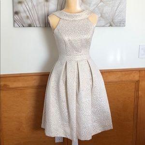 Brand new metallic jacquard dress